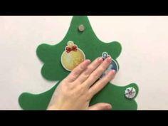 (5) Елка из фетра на холодильник с игрушками на магнитах - YouTube