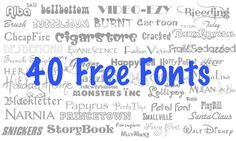 Get 40 Free Fonts Because You Rock!
