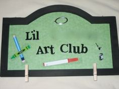 """Art of The Month Club Display Board-gift idea for grandparents! Not only do you make and give them this cute display board but you send """"artwork"""" monthly!"""