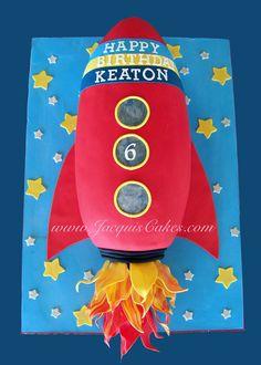 New Birthday Cake For Boys Ideas 4th Birthday Cakes For Boys, New Birthday Cake, Boy Birthday, Otter Birthday, Harry Birthday, Rocket Ship Cakes, Rocket Cake, Rocket Ships, Astronaut Party