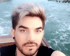 GIF VENICE SNAP D LG 6.24.16 lilybop-M.gif (560×450)$>>   HE'S GORGEOUS!!!!!  ♡♡♡.  How does someone's  hair stay perfect like that.. ON A BOAT!!!