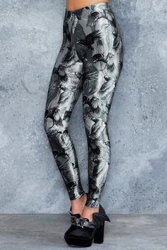Ravenous High Waisted Velvet Leggings - 48HR ($75AUD) by BlackMilk Clothing
