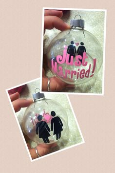Handmade Just Married Lesbian Wedding by paperpassioncards on Etsy, $10.00