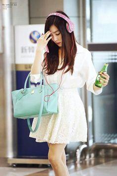 Tiffany wears her blinged Beats!!  #streetstyle