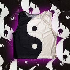 """""""When one tugs at a single...'thread'...in #nature, he finds it attached to the rest of the #world."""" So this clearlyyyy means a #balanced closet = a balanced #life ☯✌️✨ See how important an outfit can be??  . Cop this #YINYANG #SYMBOL #RETRO PRINT TANK CROP #TOP and help balance the #universe with one #outfit at a time!  LINK'S IN BIO❣