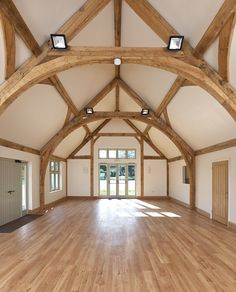 Border Oak  - Oving Village Hall - The cruck frame makes this an amazing space for Weddings and Parties.