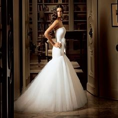drop waist wedding dresses are rising to the top I my list... This one is spectacular.