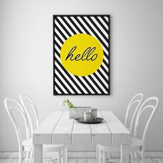 Plakat mit Streifen, Wohndeko  / art print for home decoration with stripes made by Schöne Dekor via DaWanda.com