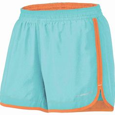 """Brooks Women's Versatile 5"""" Women Short. Total versatility makes this short a runner's favorite. Its contrast waistband features comfy EZ heathered fabric and a pop of color from the drawstring -- roll it over to show it off. Comes in Powder and Tropic!"""