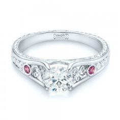 custom pink sapphire and diamond engagement ring joseph jewelry bellevue seattle