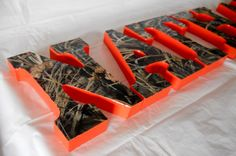 Realtree Max4/ Advantage Max4 Nursery Letters by HLCustoms on Etsy