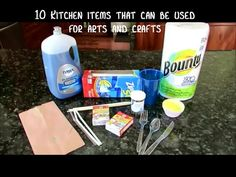 10 KITCHEN ITEMS that can be USED FOR ART by Mr. Otter Art Studio.