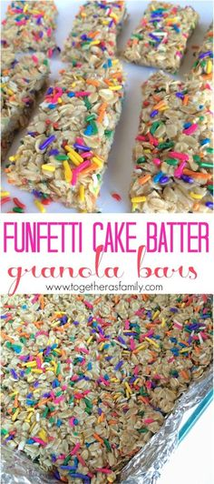 Funfetti Cake Batter Granola Bars - Together as Family