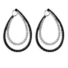 Black and White Diamond Earrings Available at Houston Jewelry!   www.Houstonjewelry.com