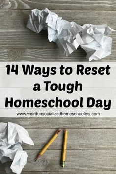 14 Ways to Reset a Tough Homeschool Day via @kris_wuhsmom Teachers Toolbox, New Teachers, Homeschool Curriculum, Curriculum Planning, Homeschooling Resources, Lesson Planning, Learning Time, Learning Tools, Kids Learning