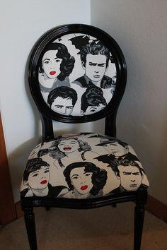 Hvid rokoko stol har fået nyt liv