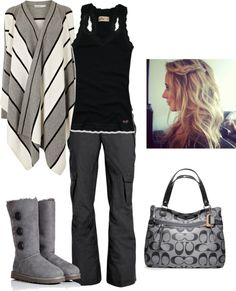 Grey and Black. Simple and stylish. LOVE it!!!