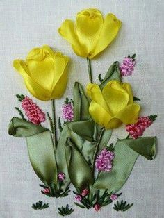 Wonderful Ribbon Embroidery Flowers by Hand Ideas. Enchanting Ribbon Embroidery Flowers by Hand Ideas. Embroidery For Beginners, Learn Embroidery, Embroidery Kits, Embroidery Stitches, Embroidery Designs, Embroidery Supplies, Embroidery Online, Towel Embroidery, Custom Embroidery