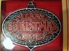 Tiffany Classics by Hallmark Merry Christmas 1978 Acrylic Ornament