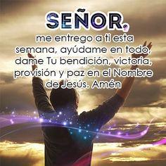 Señor dame tu bendición World, Names Of Jesus, Christians, Peace, Messages