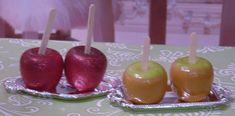 2 Candy Apples on a Tray for American Girl by MyGirlClothingCo