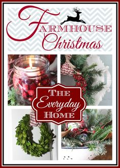 Join me and eight other bloggers as we share a tour of a Farmhouse Christmas.