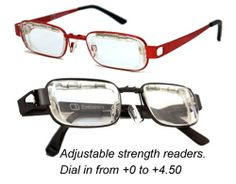 Eyejusters (adjustable strength) readers are a highly publicized favorite of customers.  Get them at Debspecs.com