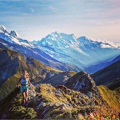 Welcome to #Runnerland  runnerland.web.tv facebook.com/runnerlandofficial  ###  Photo: @sarah_stirling  #tbt me and #Rufusadventuredog on the same run last summer. Heading for the Croix de Fer viewpoint over neighbouring #Switzerland from Chamonix ###