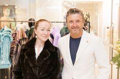 Darya Moroz and Maurizio Braschi #braschi #fur #celebrity #fashion #glamour #style #classy #luxury