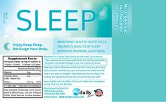 Sleep is an all natural health spray that works to bring relief to those who have trouble falling asleep or staying asleep throughout the night.