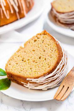 Healthy Lemon Bundt Cake from scratch with lemon glaze