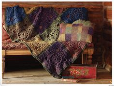giant grannies and perfect colours...    crochetsquarethrow by bleudetoiles, via Flickr