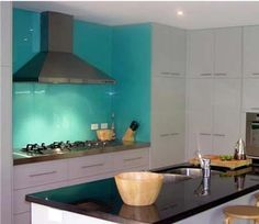 I want to paint one wall behind the stove this color, but my cabinets are not white. guh