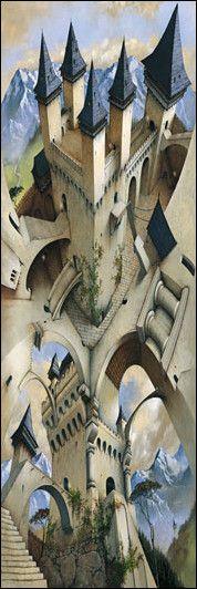 Irvine Peacock - Castle of Illusion - Door Poster, 12 in. x 36 in., SKU: 006246