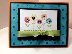 Karen's Kraft Room: Stampin Up Hello Blossom Distressed Card