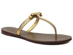 Tory Burch Women's Leighanne Flat Thong Sandals Leather Flip Flops Sz. 6.5 M #ToryBurch #FlipFlops #Casual