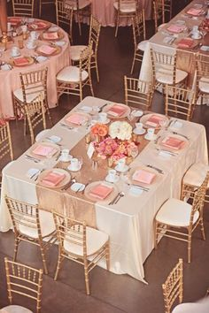 Blush and gold wedding reception-love the concept, but would add more elements