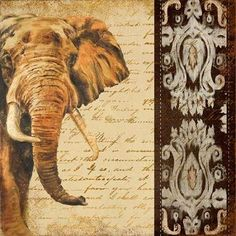 Patricia Pinto Solid-Faced Canvas Print Wall Art Print entitled Madagascar Safari III, None Abstract Canvas, Abstract Print, Canvas Art, Safari, Wall Art Prints, Poster Prints, Canvas Prints, Elephant Art, Wildlife Art
