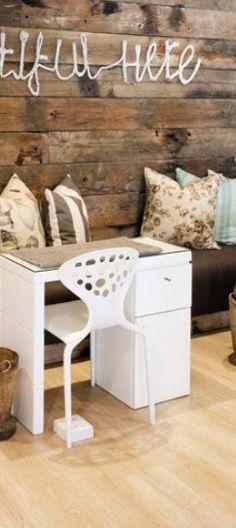Nail station Nail Station, Small Salon, Corner Desk, Diy, Furniture, Home Decor, Desktop, Corner Table, Decoration Home