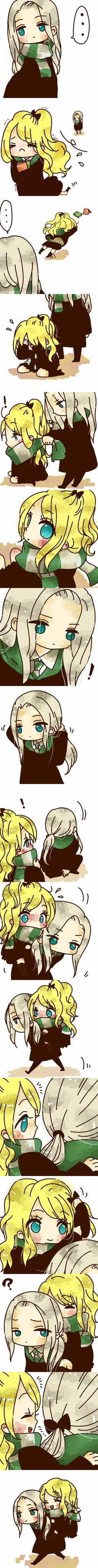 Who knew such words could ever be used to describe Lucius Malfoy and Narcissa Black Malfoy from the Harry Potter series by J. Harry Potter Anime, Harry Potter Fan Art, Harry Potter Universal, Harry Potter Fandom, Slytherin, Hogwarts, Dramione, Draco, Severus Snape