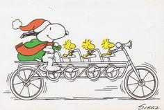 Snoopy op de fiets