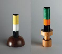 ettore sotsass wooden vases
