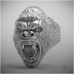 Gorilla growl ring - Digible