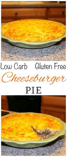 The infamous impossibly easy cheeseburger pie recipe can be made low carb and gluten free by using a coconut flour mixture instead. LCHF Keto Banting Dinner