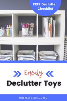 We share the best tips on how to declutter toys easily! Research shows that having less toys is actually better for kids, so let's get started on decluttering toys in your home. Discover 5 easy tips to sort, declutter and organize you kids toys. We share how to start the declutter process and tips on how to organize toys that you decide to keep. Follow The Organized Mama for more decluttering tips and organizing ideas! Kids Bedroom Organization, Small Space Organization, Playroom Organization, Organizing Ideas, Small Playroom, Declutter Your Life, Kid Closet, Inspiration For Kids, Staying Organized