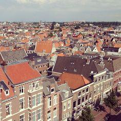 Hallo Haarlem! Uitzicht van het restaurant van V en D