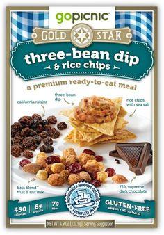 Go Picnic Gold Star Three Bean Dip & Rice Chips