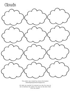 Week Gene Green Bean: Rain and Clouds: Unit 4 Preschool Weather, Weather Activities, Coloring Sheets, Coloring Pages, Preschool Crafts, Crafts For Kids, Preschool Printables, Cloud Template, Clouds