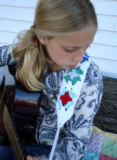 Granny's Guitar Strap, free crochet pattern and tutorial with link to lining tutorial by Tangled Happy