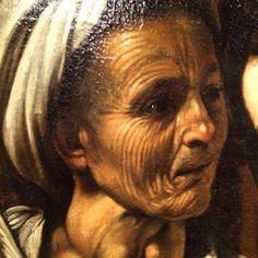 """AKA Consulting on Instagram: """"Le #caravage ?  Les traits du visage de la vieille servante inspirés certainement des études caricaturales de Léonard de Vinci  #caravaggio"""""""